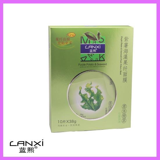 蓝熙:草本精萃面膜4款 LX:0016 紫署海藻果纤面膜  紫薯+海藻