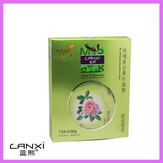 蓝熙:草本精萃面膜4款 LX:0017 玫瑰美白果纤面膜 ·玫瑰+海藻